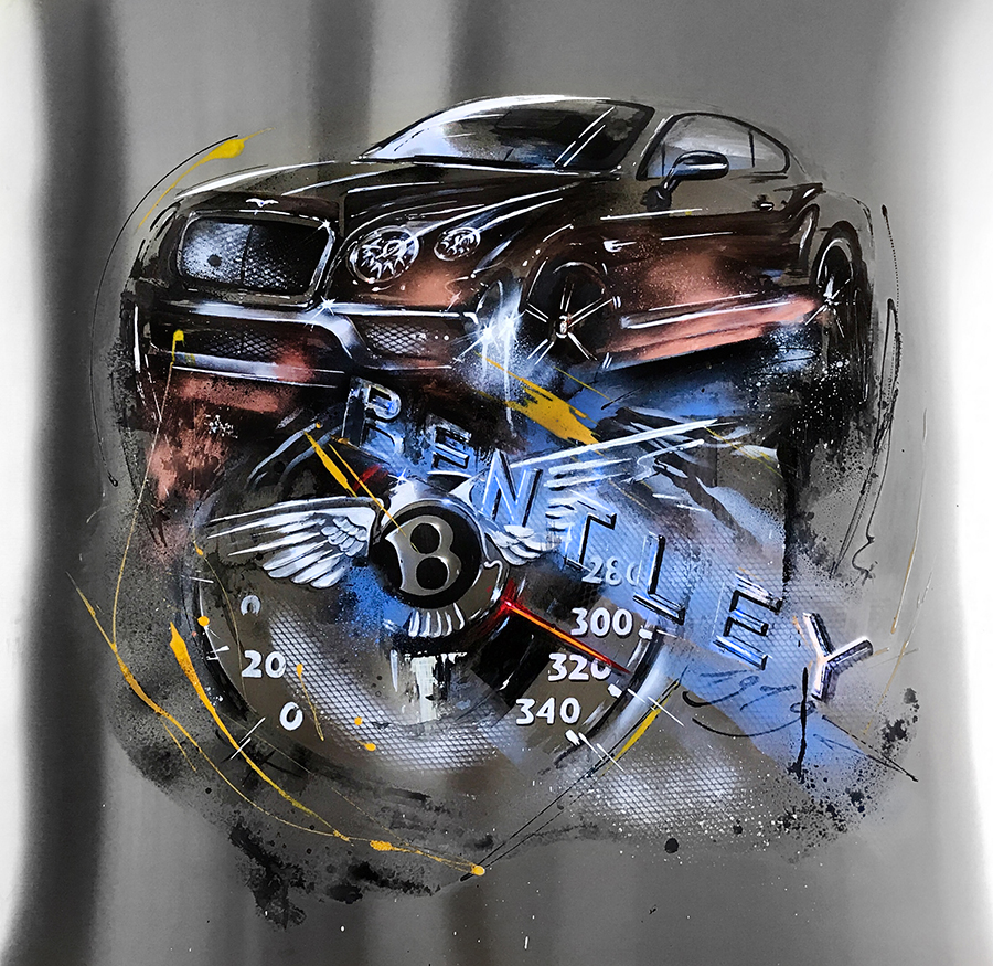 BENTLEY mit Tacho (Speedometer)