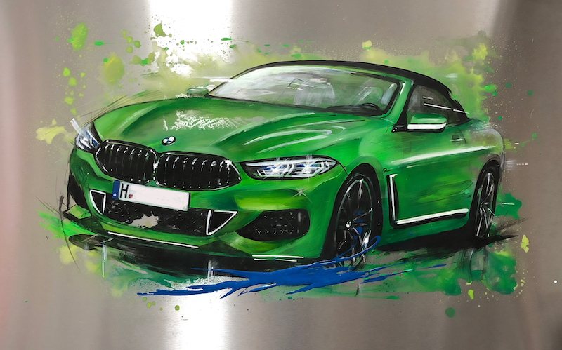 BMW 850i in Krypton-Green-Matt