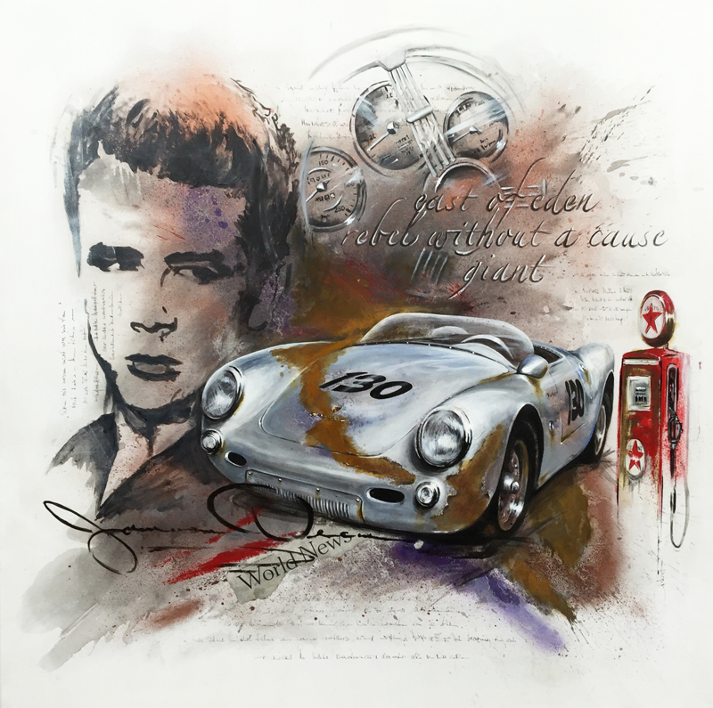 JAMES DEAN,PORSCHE SPYDER, MOVIE WORLD