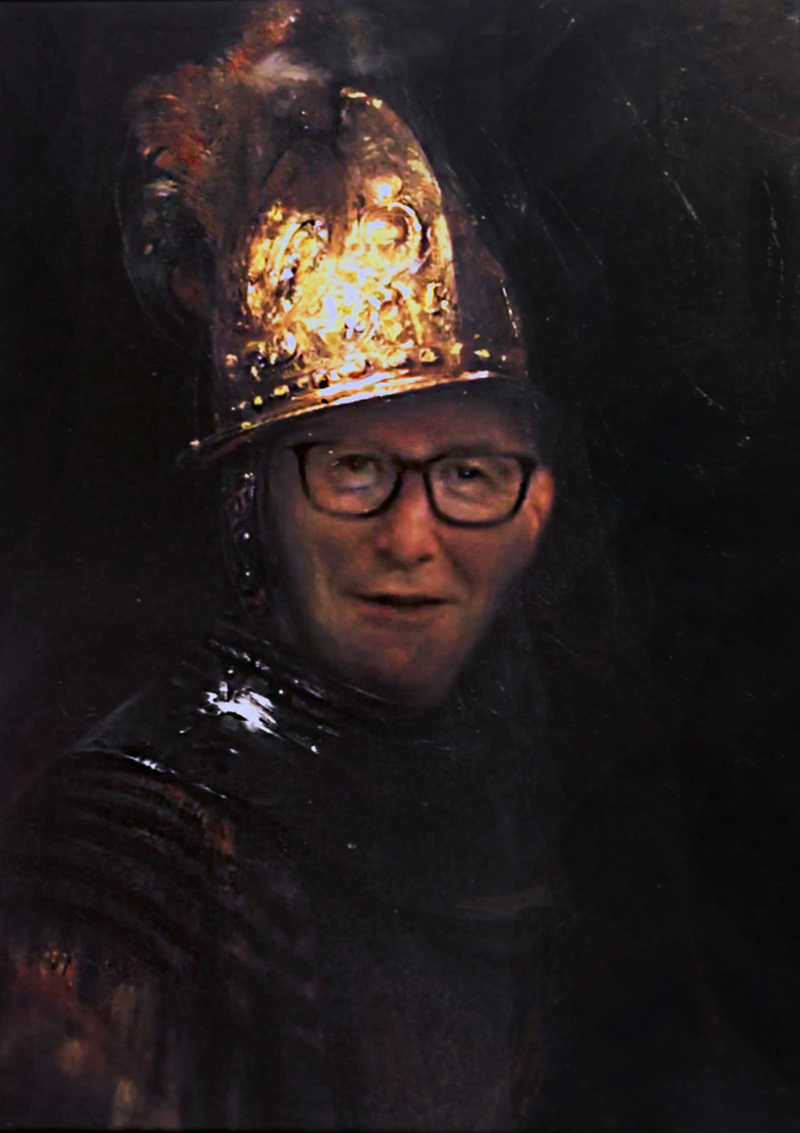 P.G. Mann mit dem goldenem Helm / Man with gold helmet